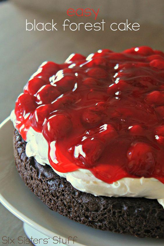 Easy Black Forest Cake Recipe  EASY Black Forest Cake Recipe