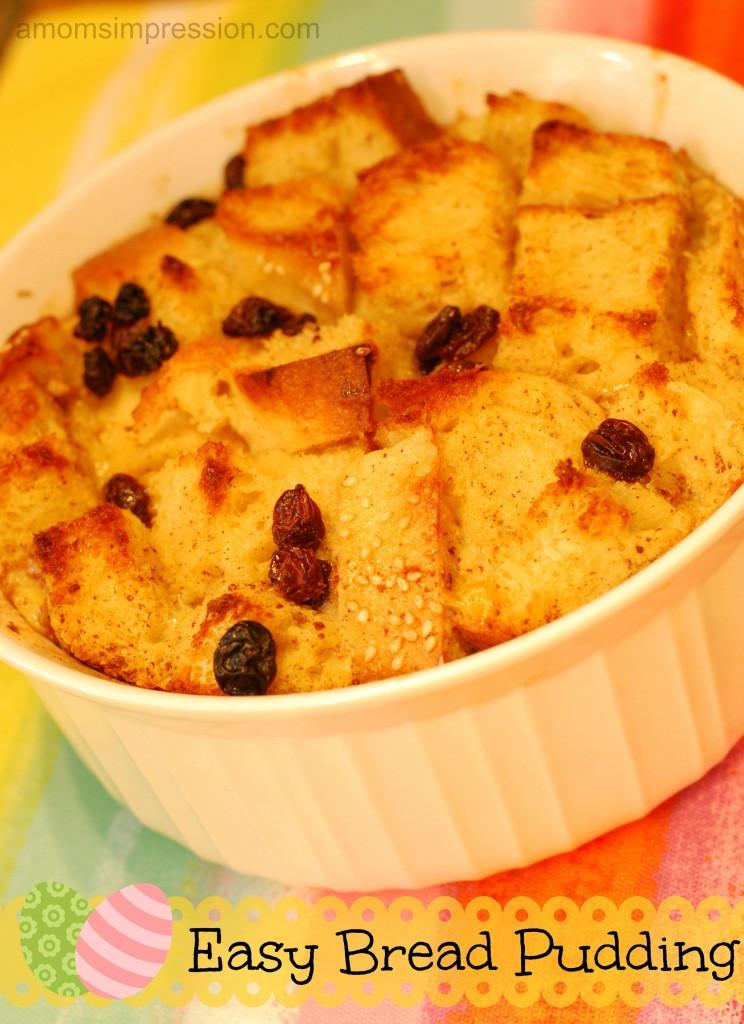 Easy Bread Pudding Recipe  Easy Bread Pudding Recipe