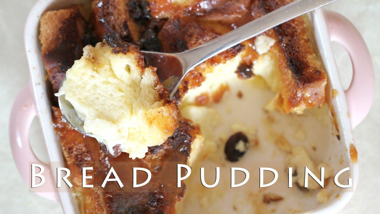Easy Bread Pudding Recipe  Easy Bread Pudding Recipe 브레드푸딩 만들기 o hacer budn de