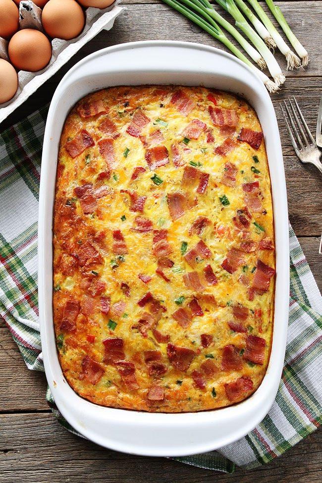Easy Breakfast Casserole Recipes  Bacon Potato and Egg Casserole