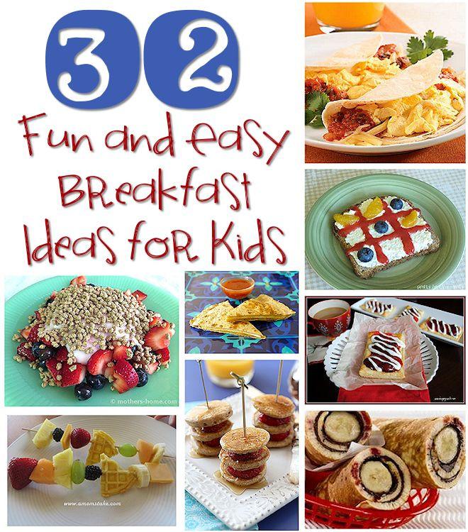Easy Breakfast Recipes For Kids  breakfast