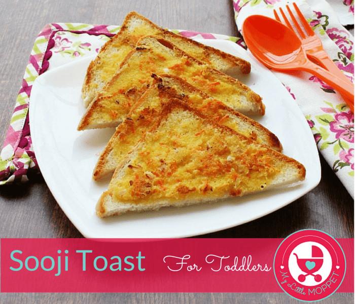 Easy Breakfast Recipes For Kids  Easy Breakfast Ideas Suji Toast for kids My Little Moppet