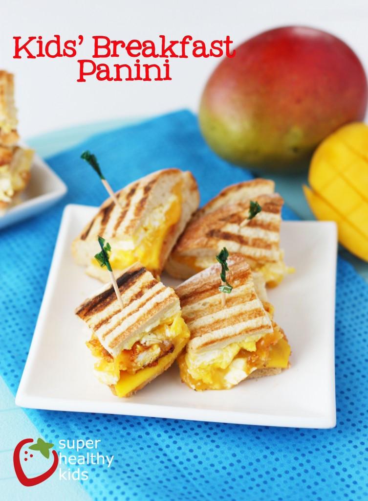 Easy Breakfast Recipes For Kids  Breakfast Panini Recipe Healthy Ideas for Kids