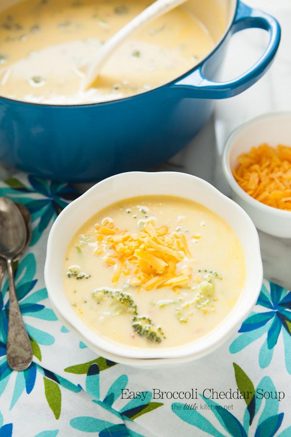 Easy Broccoli Cheese Soup  Easy Broccoli Cheddar Cheese Soup
