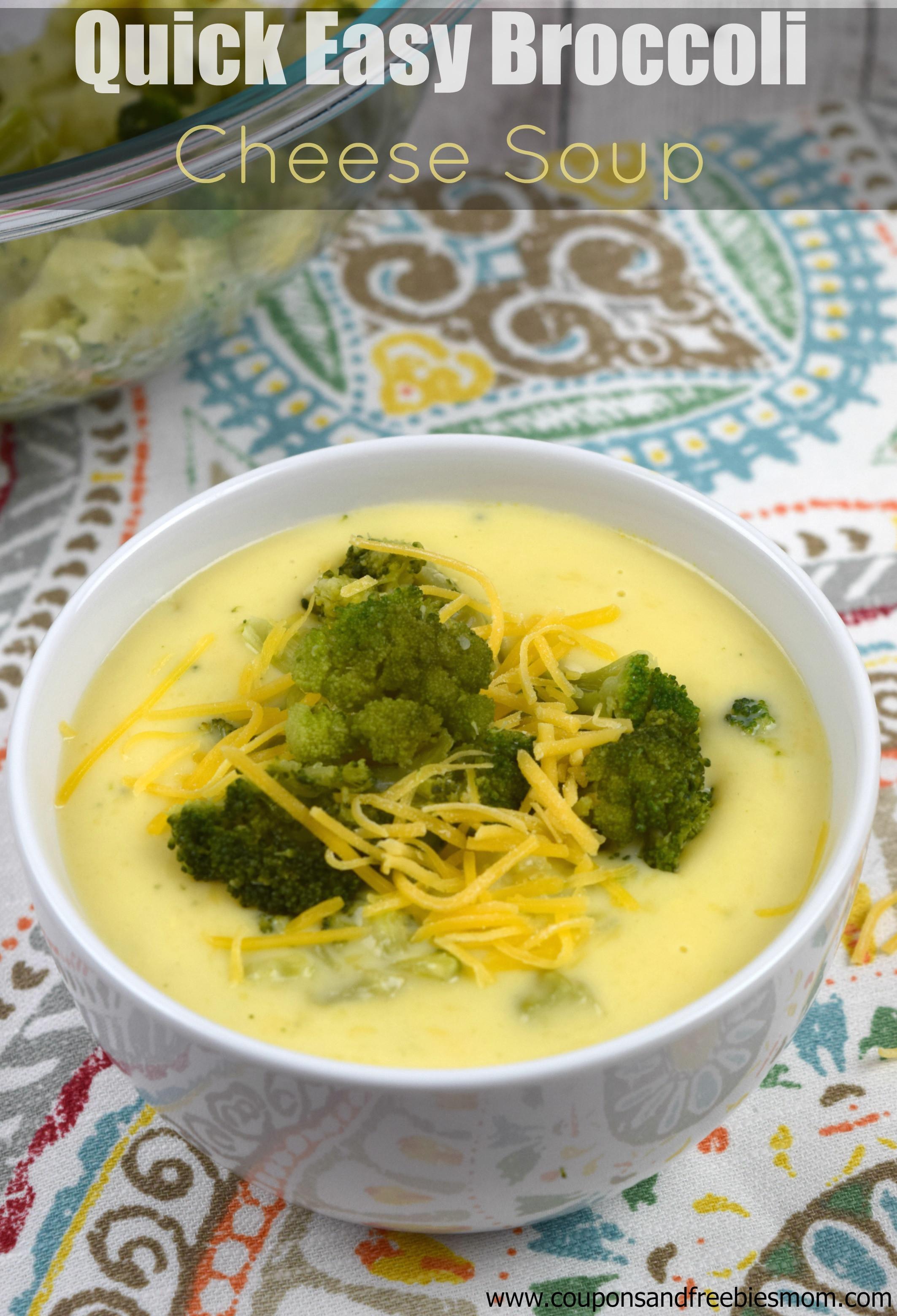 Easy Broccoli Cheese Soup  Quick Easy Broccoli Cheese Soup