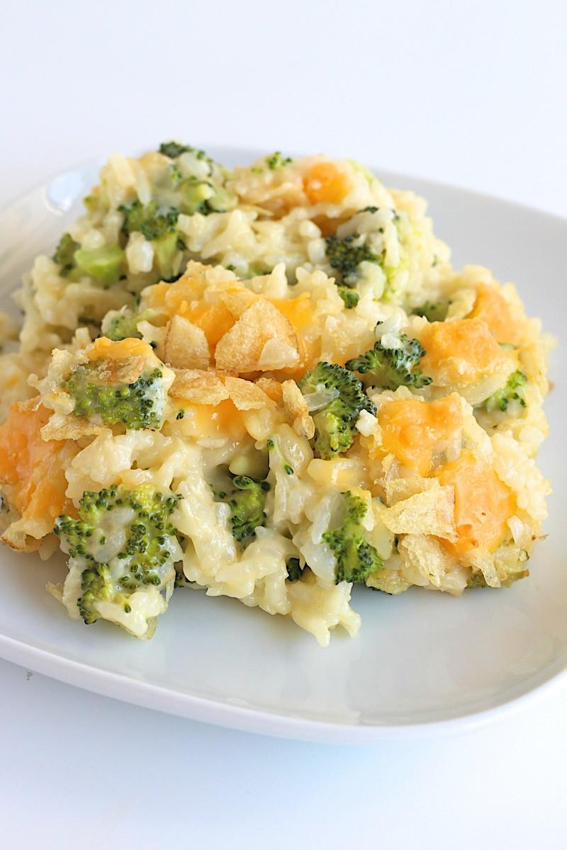 Easy Broccoli Rice Casserole  Cheesy Broccoli Rice Casserole