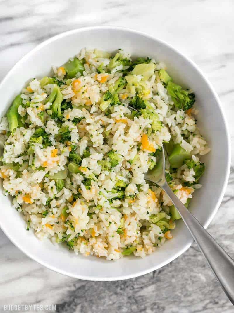 Easy Broccoli Rice Casserole  Easy Cheesy Broccoli Rice Bud Bytes