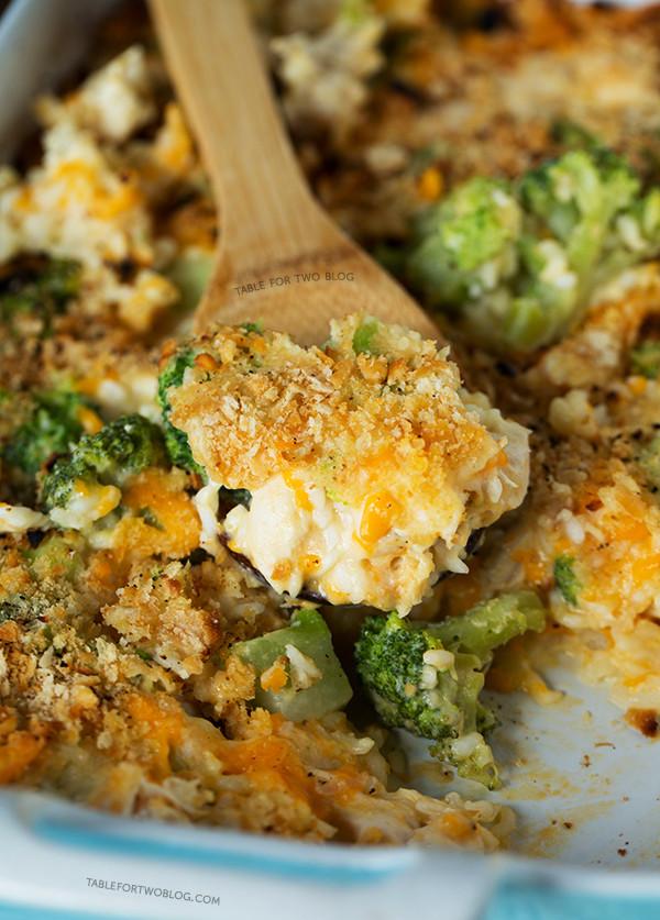 Easy Broccoli Rice Casserole  Broccoli Rice and Chicken Casserole Make Ahead Baked