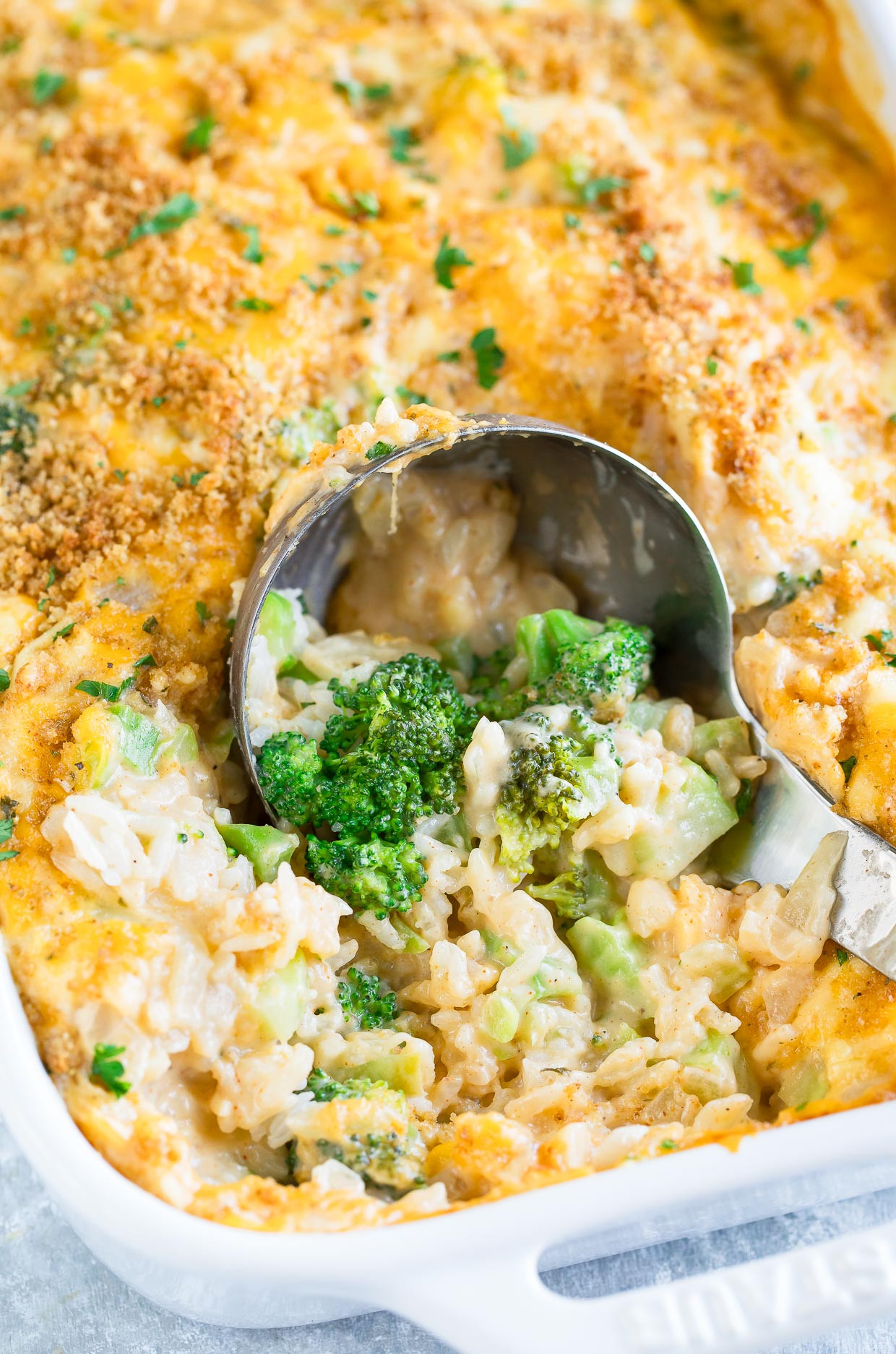 Easy Broccoli Rice Casserole  Cheesy Broccoli Rice Casserole We Love this Ve arian