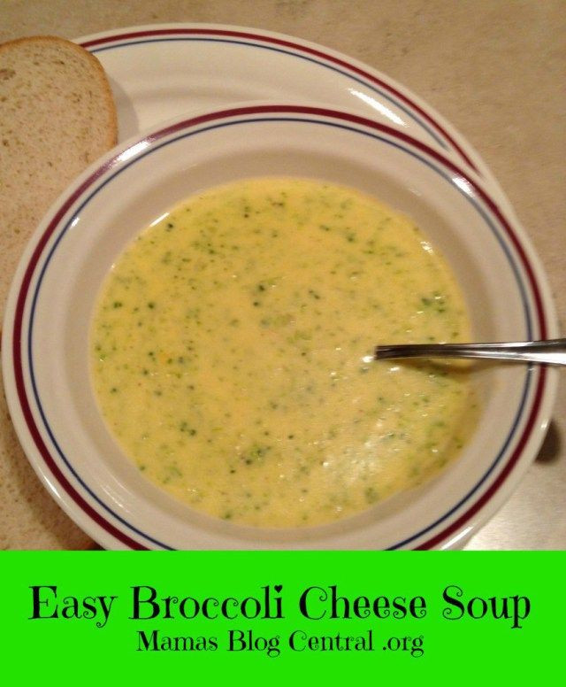 Easy Broccoli Soup  Best 25 Easy broccoli cheese soup ideas on Pinterest