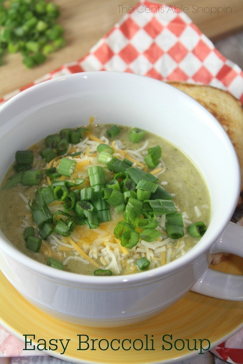 Easy Broccoli Soup  Easy Broccoli Soup Instant Pot