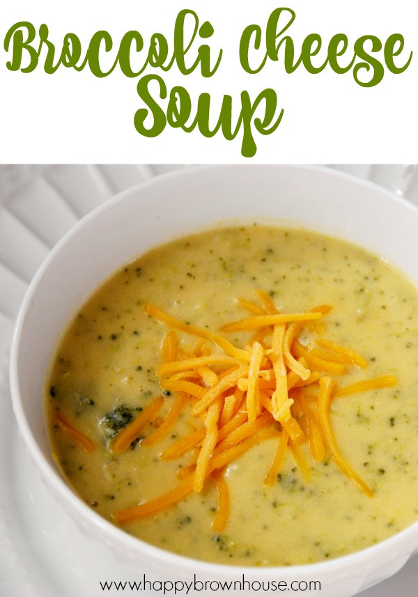 Easy Broccoli Soup  Easy Homemade Broccoli Cheese Soup