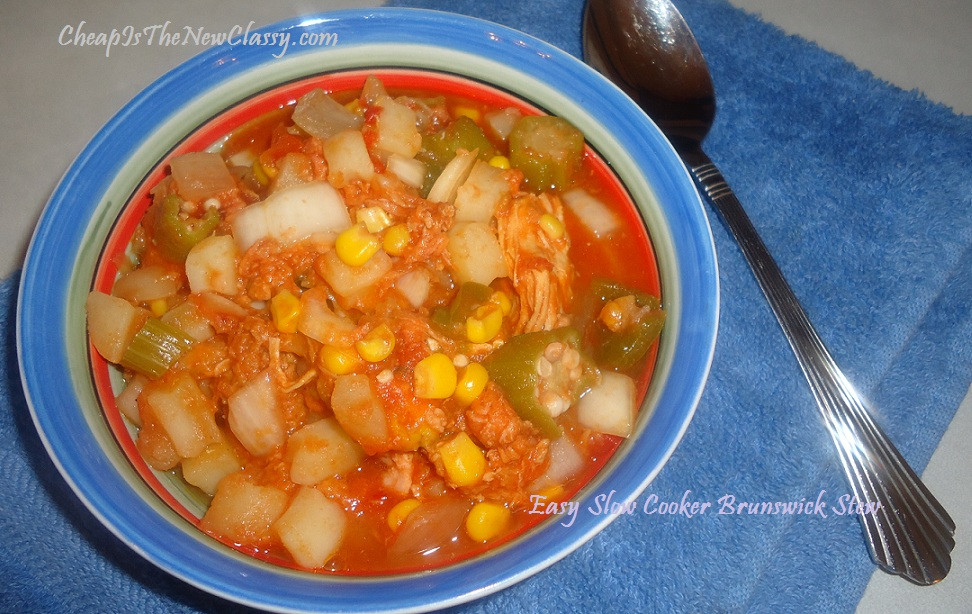 Easy Brunswick Stew Recipe  Brunswick Stew Recipe For The Slow Cooker With Soup and