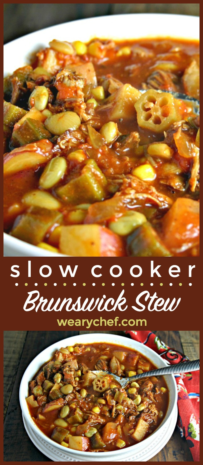 Easy Brunswick Stew Recipe  Easy Brunswick Stew in the Slow Cooker The Weary Chef