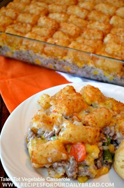 Easy Casseroles For Dinner  Casserole recipes Ve ables and For kids on Pinterest