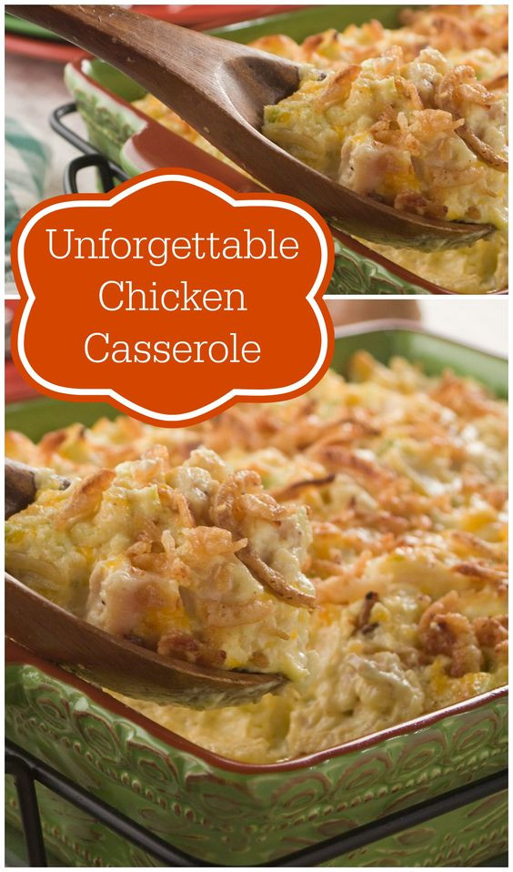Easy Casseroles For Dinner  Unfor table Chicken Casserole Recipe