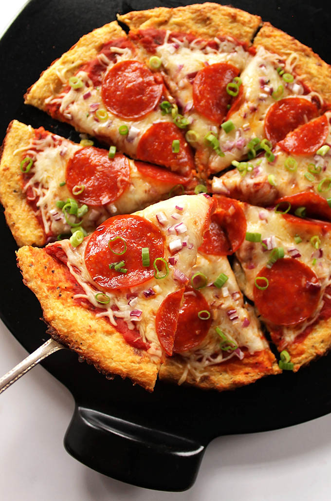 Easy Cauliflower Pizza Crust  Easy Cauliflower Pizza Crust GF Robust Recipes