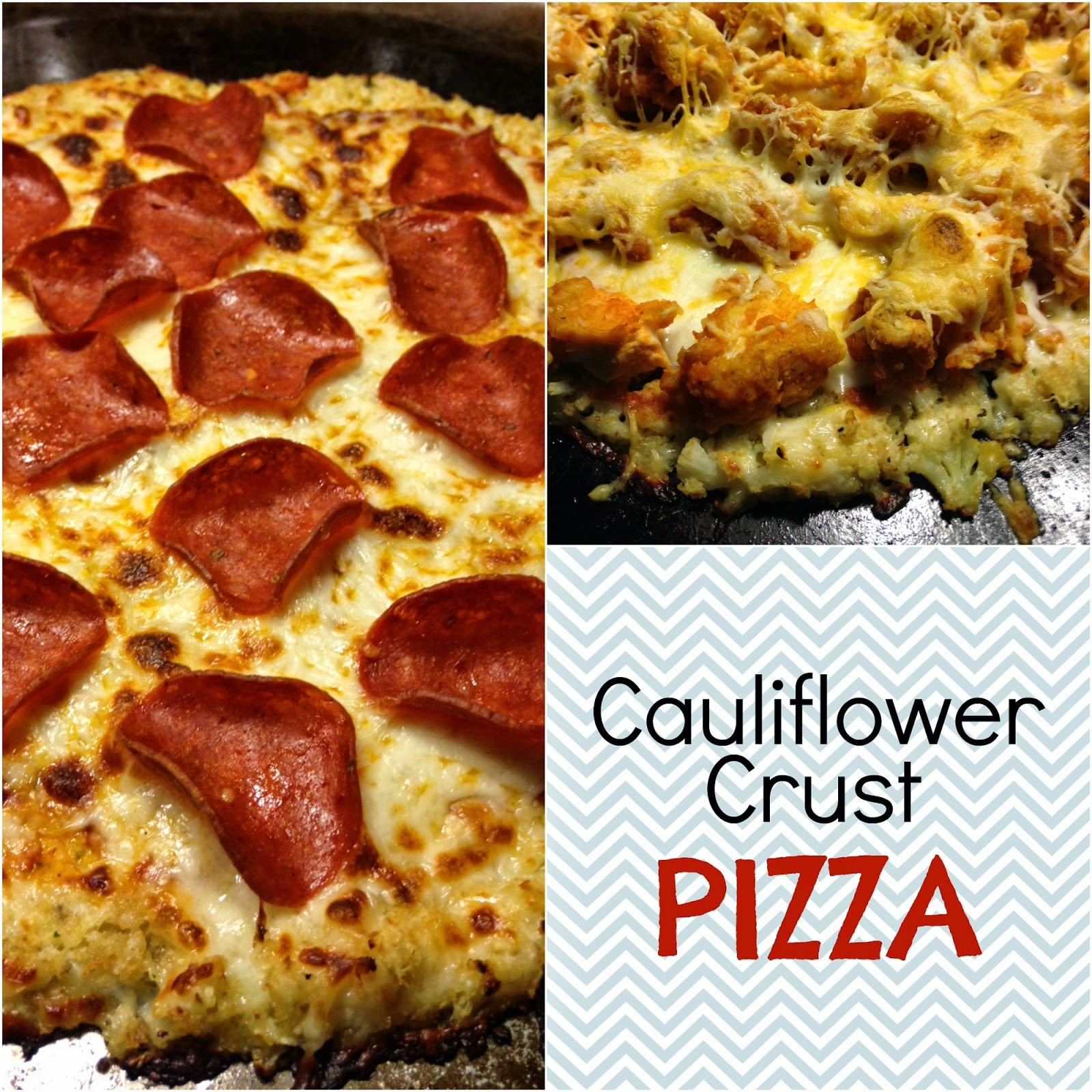 Easy Cauliflower Pizza Crust  The Striped Flamingo Easy Cauliflower Pizza