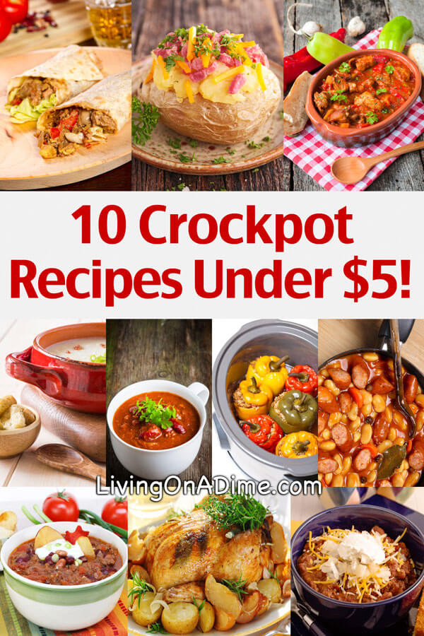 Easy Cheap Dinner  10 Crockpot Recipes Under $5 Easy Meals Your Family Will