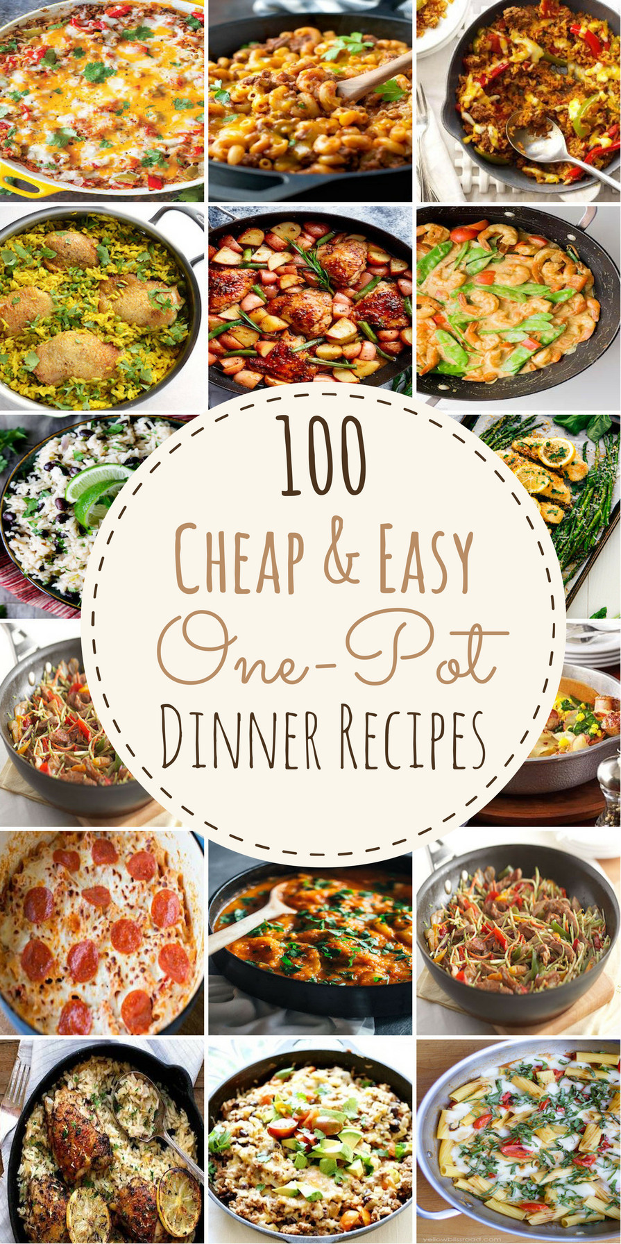 Easy Cheap Dinner  100 Cheap & Easy e Pot Dinner Recipes