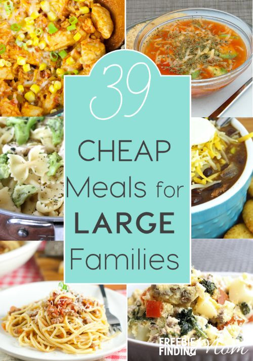 Easy Cheap Dinner  39 Cheap Meals for Families