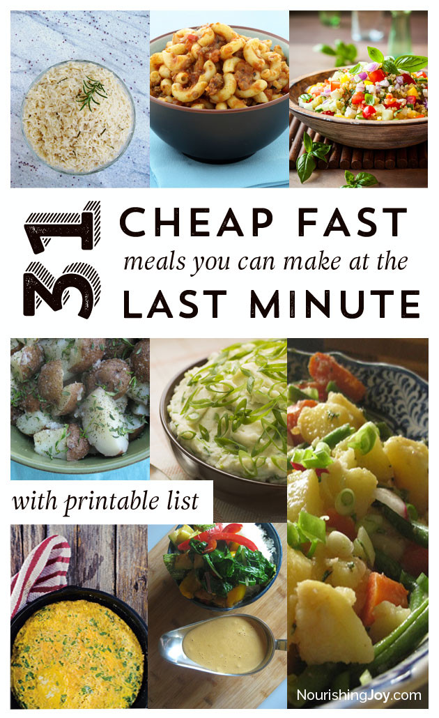 Easy Cheap Dinner  31 Cheap Last Minute Real Food Dinner Ideas Nourishing Joy