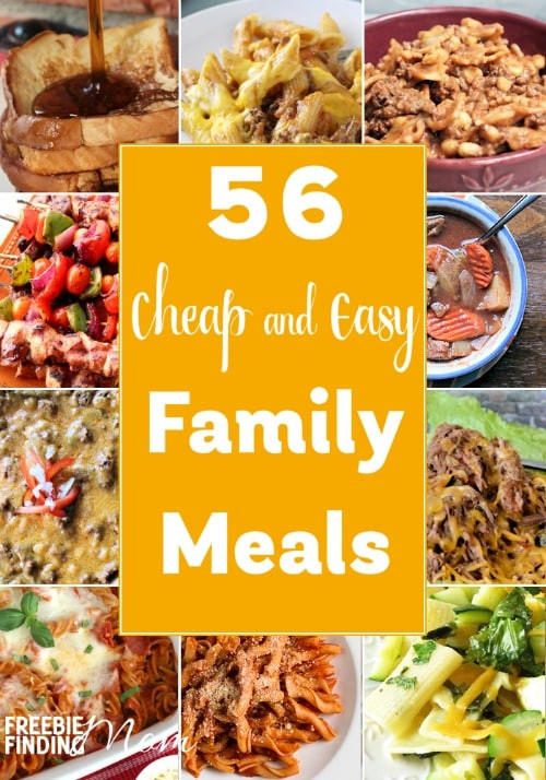 Easy Cheap Dinners  56 Cheap and Easy Family Meals