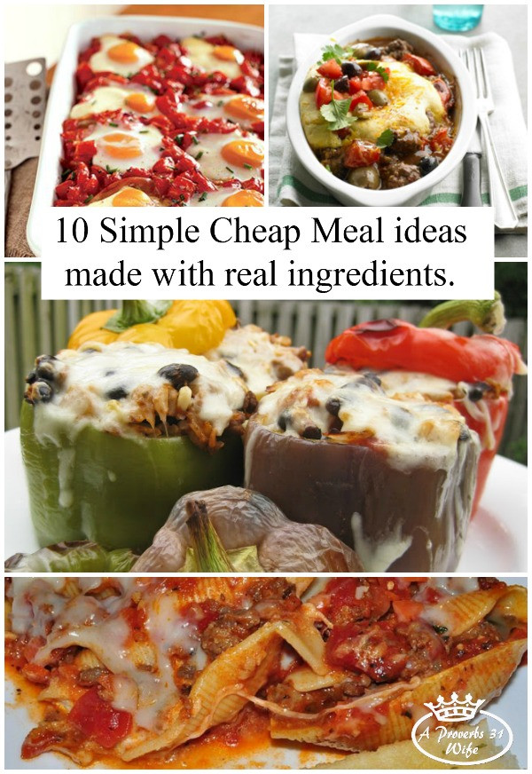 Easy Cheap Dinners  Simple Cheap Meals Whole Food Style A Proverbs 31 Wife