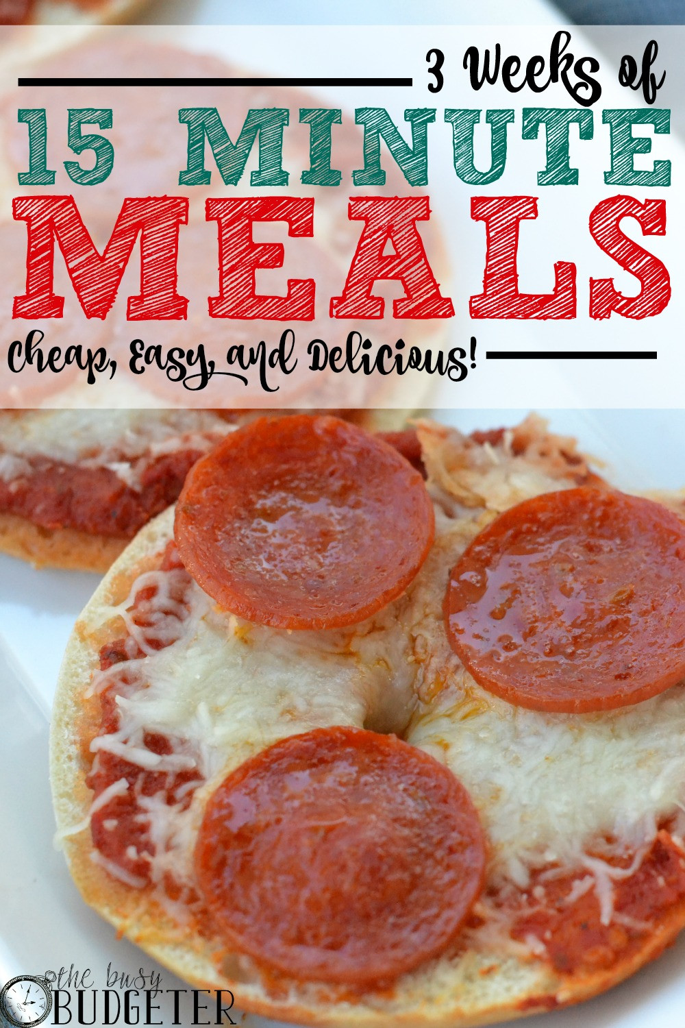 Easy Cheap Dinners  3 Weeks of Cheap Dinners ready in under 15 minutes The