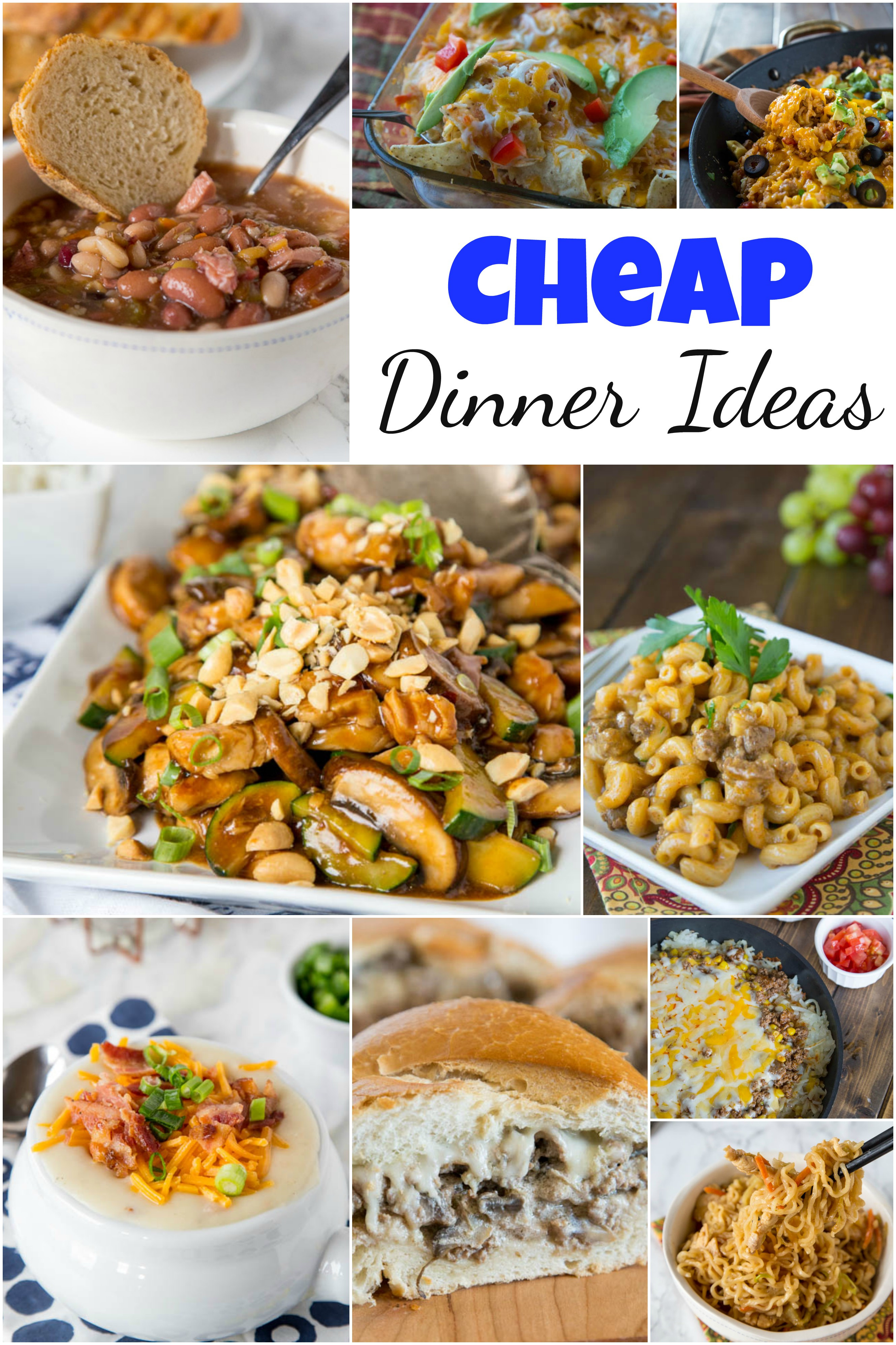 Easy Cheap Dinners  Cheap Dinner Ideas Dinners Dishes and Desserts