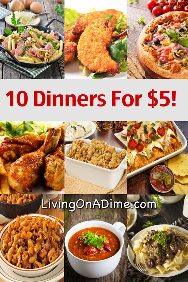 Easy Cheap Dinners  10 Dinners For $5 Cheap Dinner Recipes And Ideas