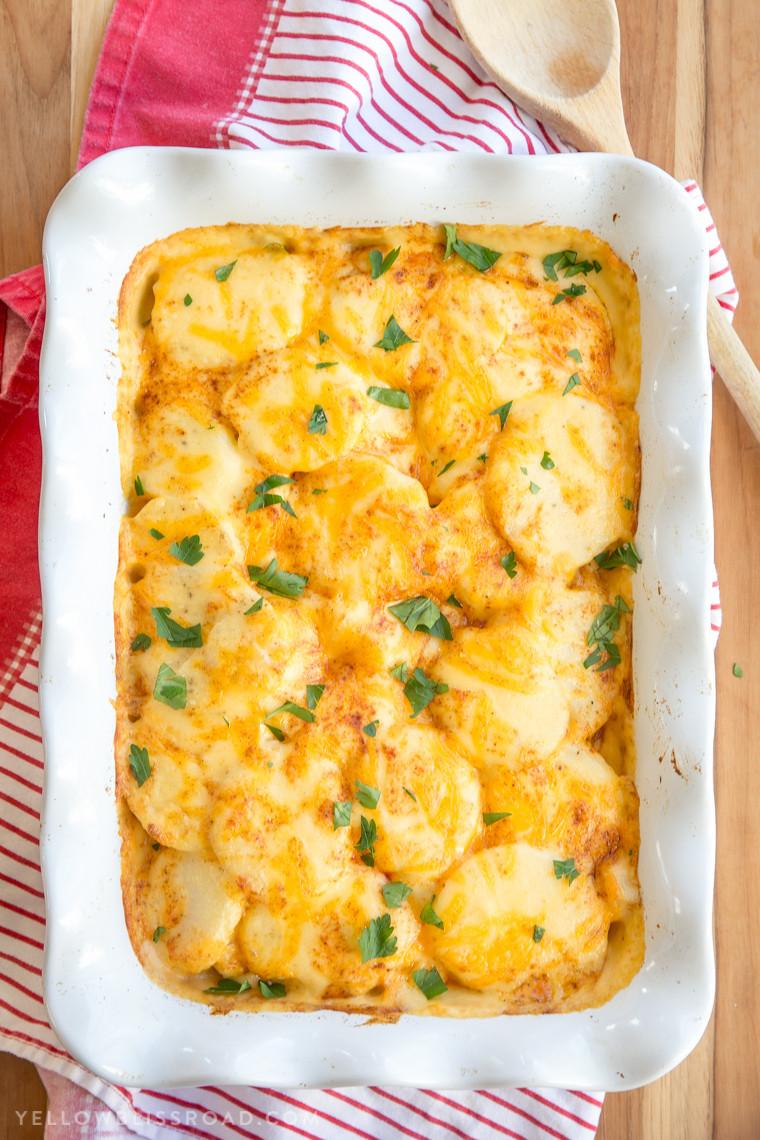 Easy Cheesy Scalloped Potatoes  Cheesy Scalloped Potatoes Easy Potato Side Dish