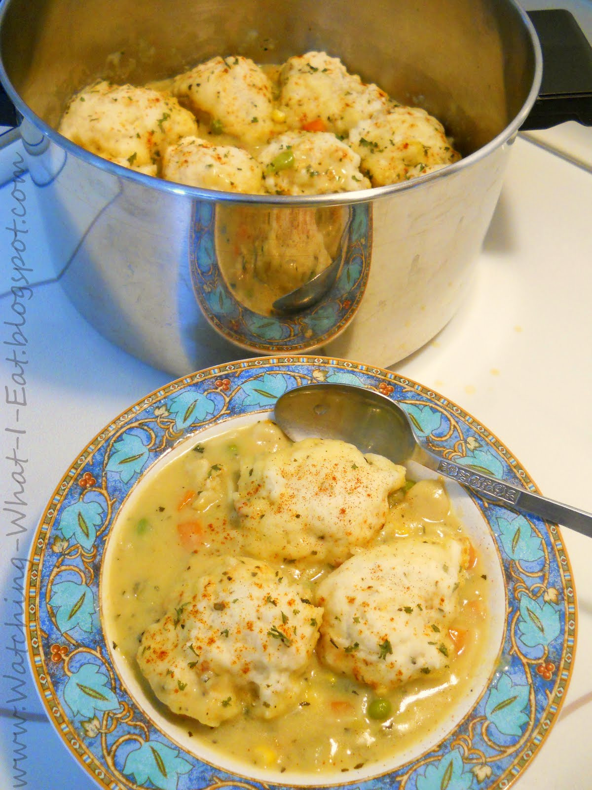 Easy Chicken And Dumplings  Watching What I Eat Easy Chicken and Dumplings
