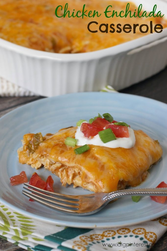 Easy Chicken Enchilada Casserole  Easy Chicken Enchilada Casserole Help a School with