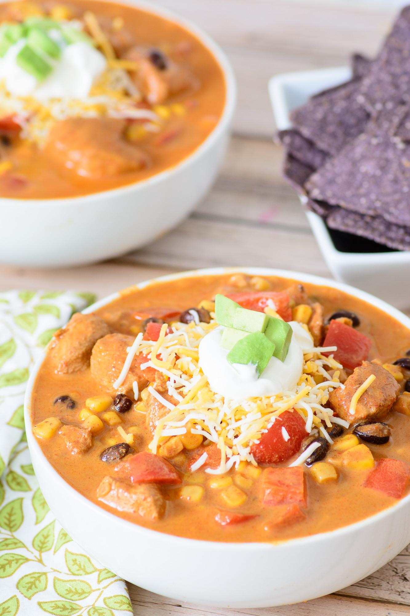 Easy Chicken Enchilada Soup  make easy chicken enchilada soup