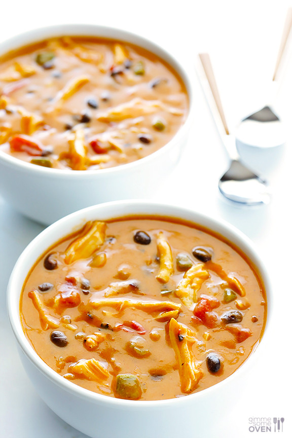 Easy Chicken Enchilada Soup  20 Minute Cheesy Chicken Enchilada Soup