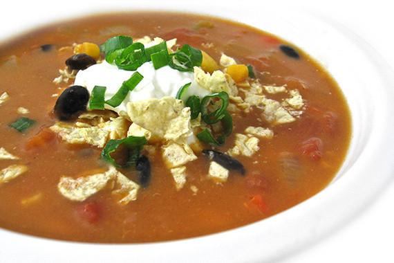 Easy Chicken Enchilada Soup  Skinny Chicken Enchilada Soup Crock Pot or Stove Top