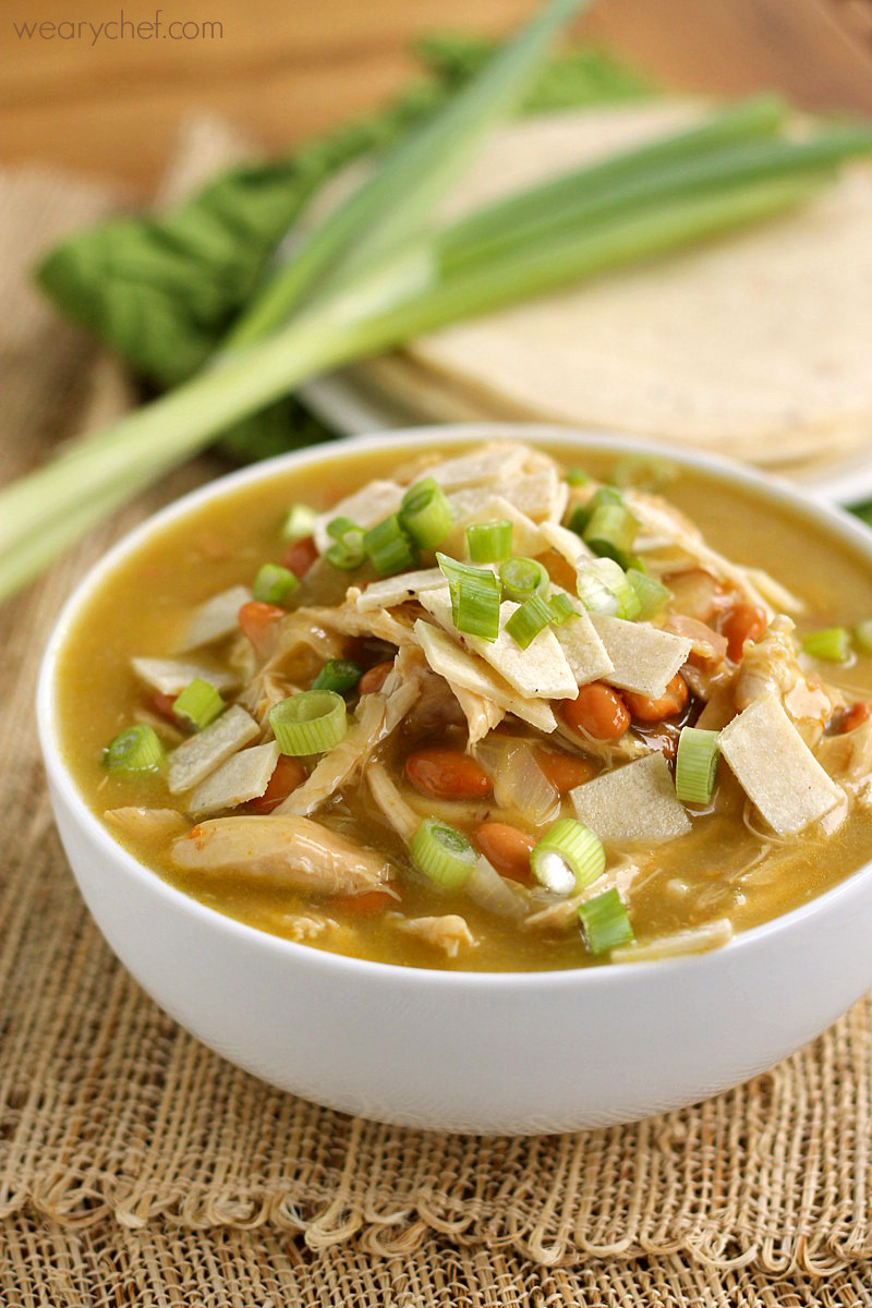 Easy Chicken Enchilada Soup  Green Chicken Enchilada Soup The Weary Chef