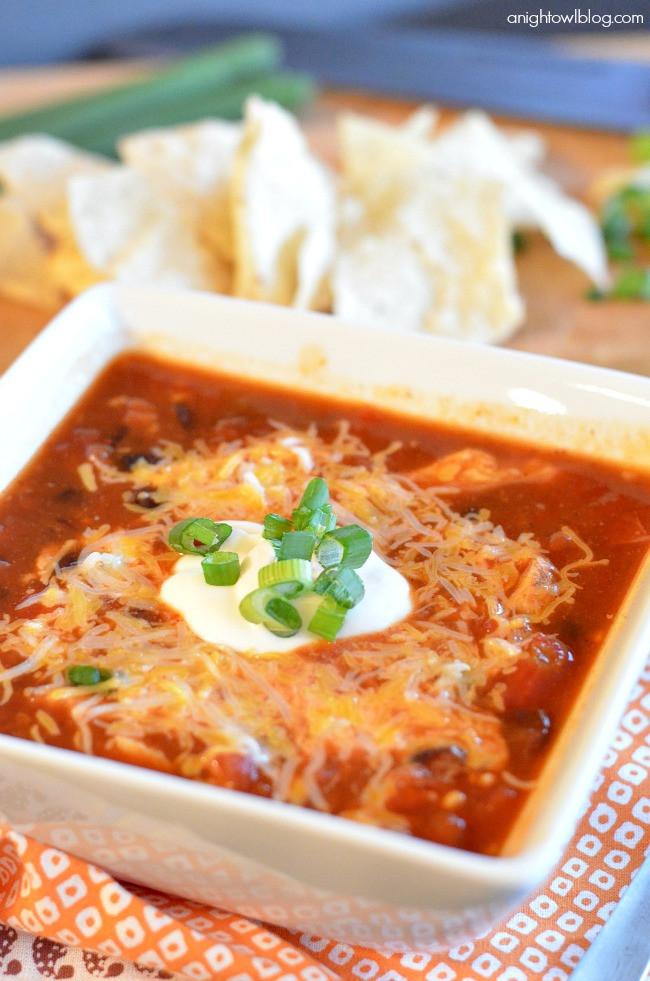 Easy Chicken Enchilada Soup  Easy Chicken Enchilada Soup