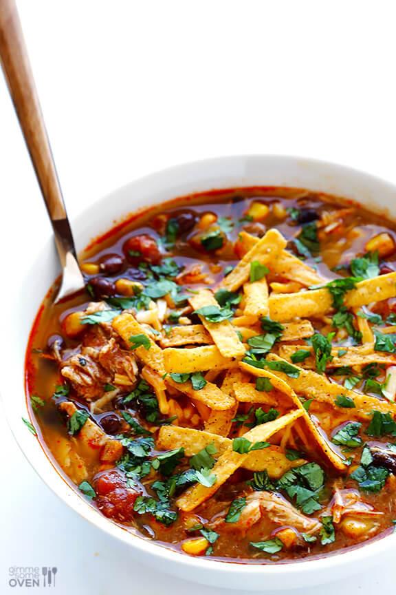 Easy Chicken Enchilada Soup  Slow Cooker Chicken Enchilada Soup