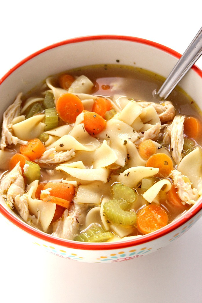 Easy Chicken Noodle Soup  20 Minute Chicken Noodle Soup Recipe Crunchy Creamy Sweet