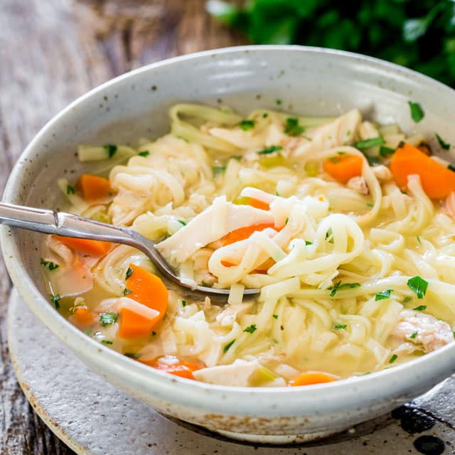 Easy Chicken Noodle Soup  Homemade Chicken Noodle Soup Jo Cooks