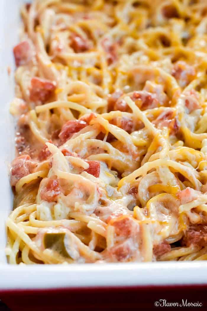 Easy Chicken Pasta Casserole  Easy Chicken Spaghetti Flavor Mosaic
