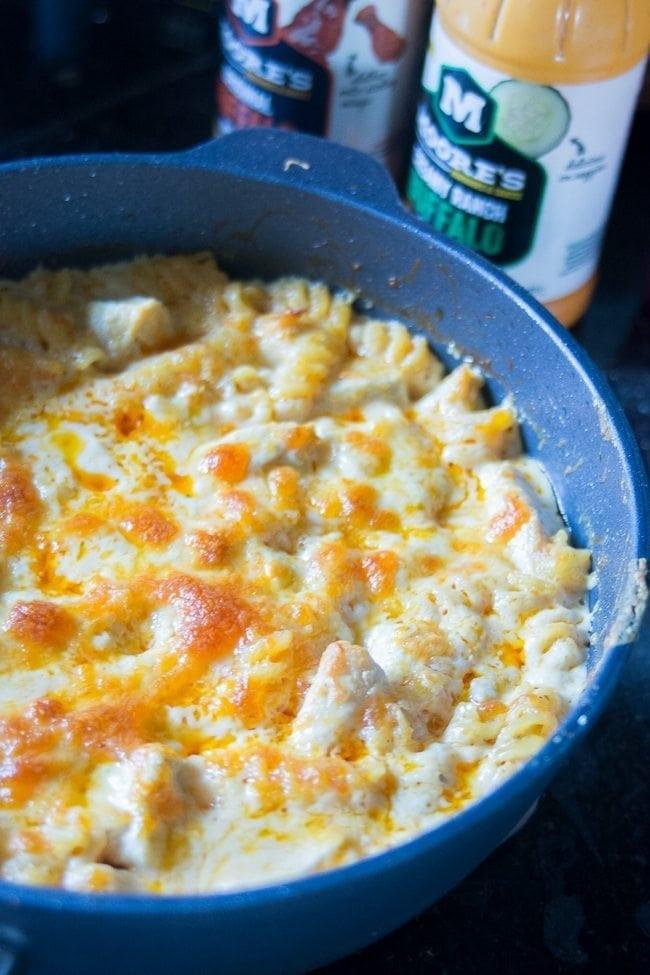 Easy Chicken Pasta Casserole  Easy Buffalo Chicken Pasta Bake