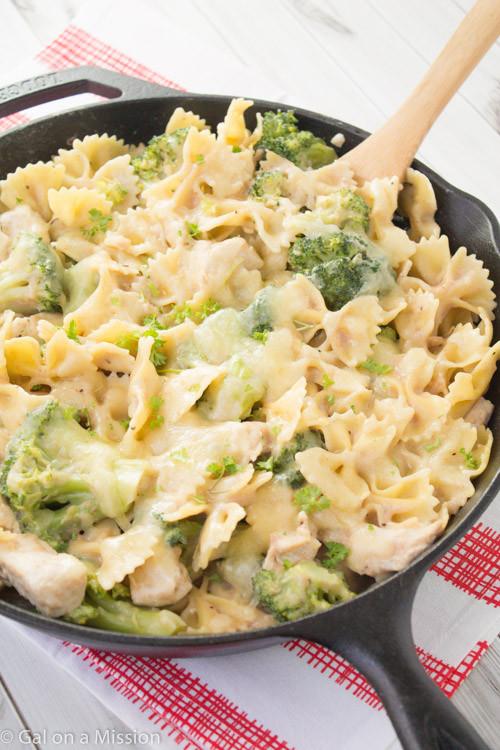 Easy Chicken Pasta Casserole  Chicken Broccoli & Pasta Skillet Casserole Gal on a