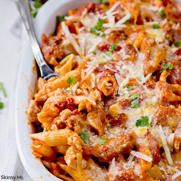 Easy Chicken Pasta Casserole  Chicken and Penne Parmesan Casserole