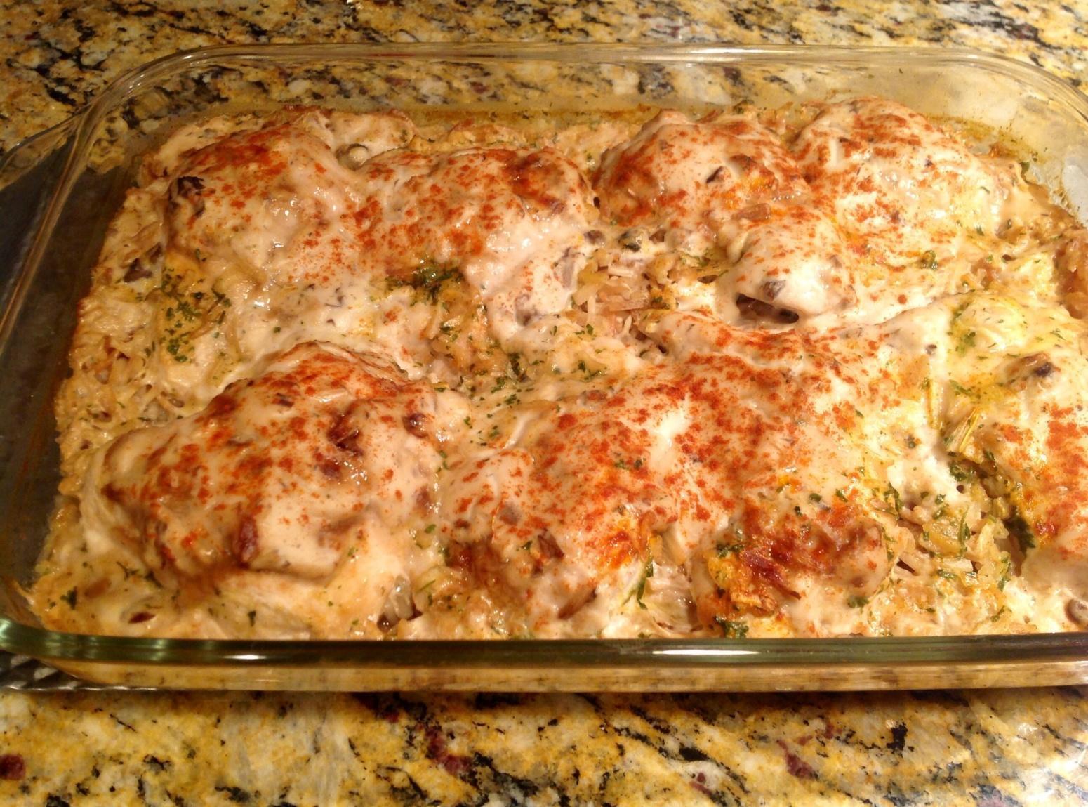 Easy Chicken Rice Casserole  Easy Chicken & Rice Bake Recipe