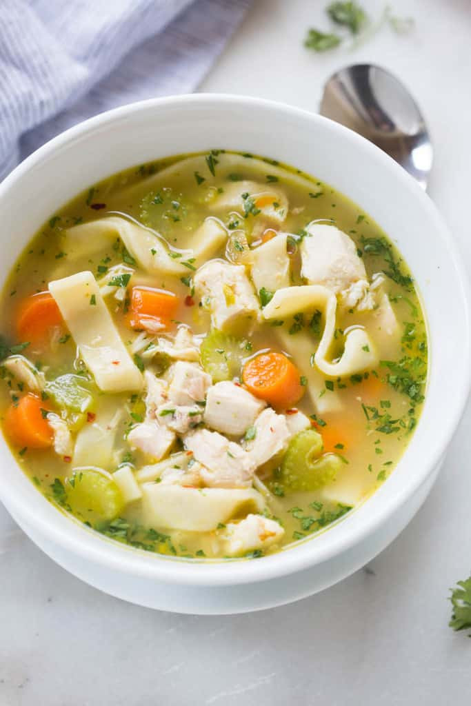 Easy Chicken Soup  The BEST Homemade Chicken Noodle Soup