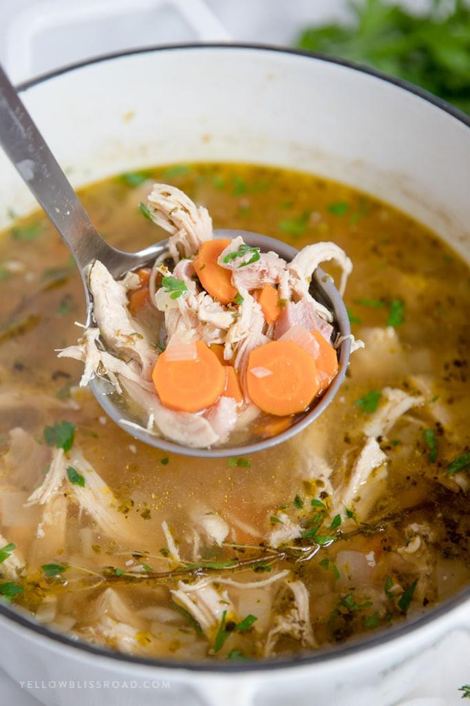 Easy Chicken Soup  Homemade Chicken Soup Recipe