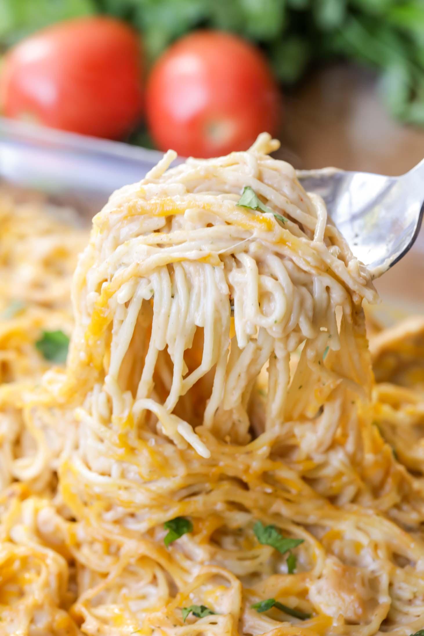Easy Chicken Spaghetti  EASY Chicken Spaghetti Recipe VIDEO